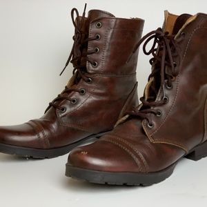 Steve Madden Snider Boots Mens 10 Leather Brown